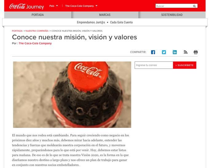 Misión de Coca-Cola