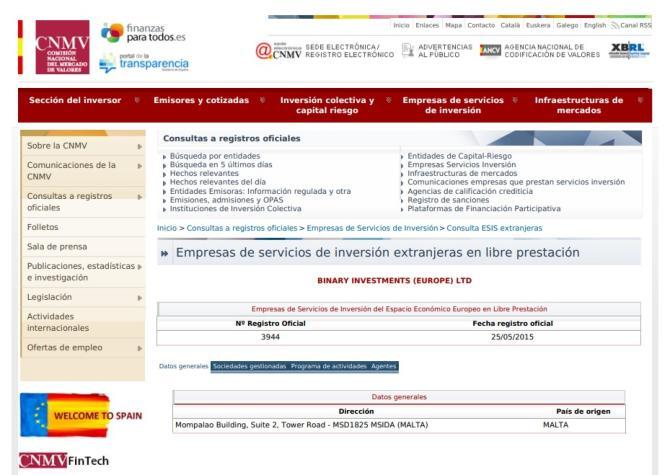 Información regulatoria
