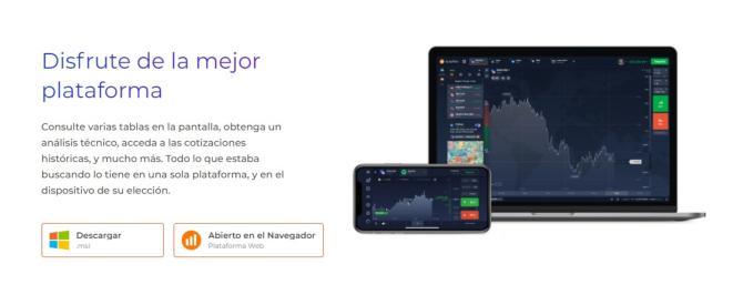 IQOption aplicación móvil